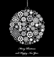 Fir tree bauble from white snowflakes vector image vector image
