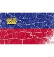Flag of Liechtenstein with old texture vector image vector image