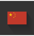Flat flag of China vector image vector image