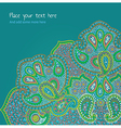 Floral aqua paisley card template vector image
