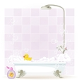 Foam filled bathtub on legs vector image