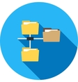 Folders Sharing Data vector image vector image
