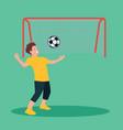 football player kicks the ball vector image vector image
