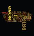 got virus text background word cloud concept vector image vector image