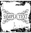 grunge decorative vintage ornate banner vector image vector image