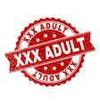 grunge textured xxx adult stamp seal vector image