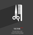 hair icon symbol Flat modern web design with long vector image