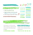 highlighter elements with text layout vector image vector image