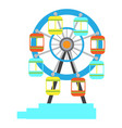 isolated carnival ferris wheel icon vector image