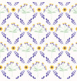 lavender mint green and lilac flower lattice vector image vector image