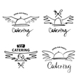 logo for catering restaurant cafe Open air vector image