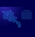 map armenia from printed board chip and radio vector image vector image