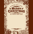 merry christmas greeting card with copy space vector image vector image
