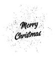 merry christmas text christmas card holiday vector image
