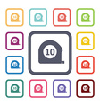 metre flat icons set vector image vector image