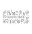 Microbes horizontal line