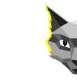 modern creative cat in low vector image vector image