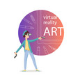painting in virtual reality vector image