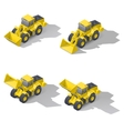 Quarry front loader with a different position of vector image vector image