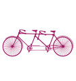retro old silhouette tandem bicycle vector image vector image