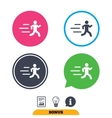 Running sign icon Human sport symbol vector image