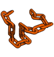Rust Chain vector image vector image