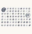 set email symbol monkey vector image