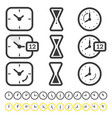 set time and clock icon isolated on white vector image