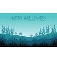 Silhouette of pumpkins in fields Halloween vector image vector image