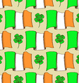 Sketch Irish pattern vector image