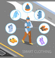 smart winter clothing composition vector image vector image