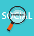 social entrepreneurs concept of business with good vector image vector image