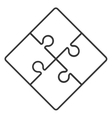 square in four puzzle pieces icon vector image vector image
