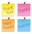 Thank you post-it notes vector | Price: 1 Credit (USD $1)