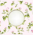 the flower garland circle label of flowers in vector image