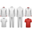 The set of various work clothes vector image vector image