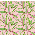Tropical Leaves Background Seamless Pattern Design vector image vector image