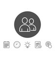 users line icon couple or group sign vector image vector image