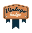 Vintage badge label on a white background vector image vector image