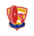 Weightlifting hand lift weights shield belt vector image vector image