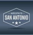 welcome to san antonio hexagonal white vintage vector image vector image
