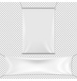 white banners set vector image vector image