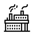 working power station icon outline vector image vector image