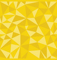 yellow geometric seamless pattern from triangles vector image vector image