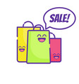 sale cute market bag thin line icon art vector image