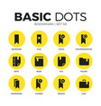 bookmark flat icons set vector image