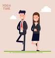 businessman and businesswoman or managers are vector image