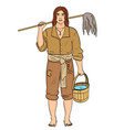 a man is a pirate a cabin boy or ships boy vector image vector image