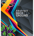 Abstract geometry background with grunge and retro vector image