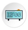 Alarm clock icon circle
